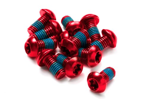 Reverse Bremsscheiben Befestigungs- Schrauben-Set 12 StÃŒck M5x10mm rot