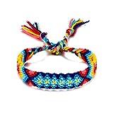 LKSPD Qxdzswb Joyería Retro señoras de Tejido for el Tobillo algodón Hecho a Mano Pulsera for el Tobillo del pie de Playa Femenino Regalo 2pcs / Set Pulsera de Encaje (Color : KF6421)