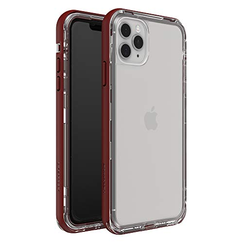LifeProof Next Series Case for iPhone 11 Pro Max - Raspberry ICE (Clear/RED Dahlia), Small