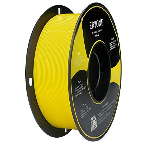 Filamento PLA 1.75mm, Eryone PLA Filamento 1.75mm, Stampante 3D Filamento PLA per Stampante 3D, 1kg 1 Spool, Giallo