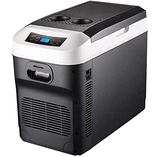 JLKDF Refrigerador de Coche con congelador Nevera eléctrica 12v 24V 220V-240V Refrigerador de Coche portátil 28 litros Mini Nevera de Camping para Autocaravana, vehículo, RV, Barco, viaj
