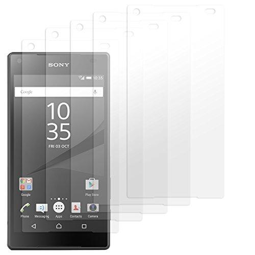 moodie Bildschirmschutzfolie für Sony Xperia Z5 Compact [5 Stück] Premium Folien Kristallklar mit Anleitung für Sony Xperia Z5 Compact