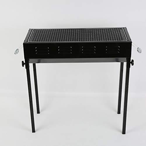 LJYMM - Barbacoa portátil plegable de carbón de madera para camping, picnic, al aire libre, jardín, fiesta