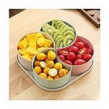 KUQIQI Plato de Frutas, diseño de 4 Rejillas, con Tapa, for el hogar/Fiesta de Bodas/Postre/Dulces/Frutas Placa de Cocina Fruta (Color : A)