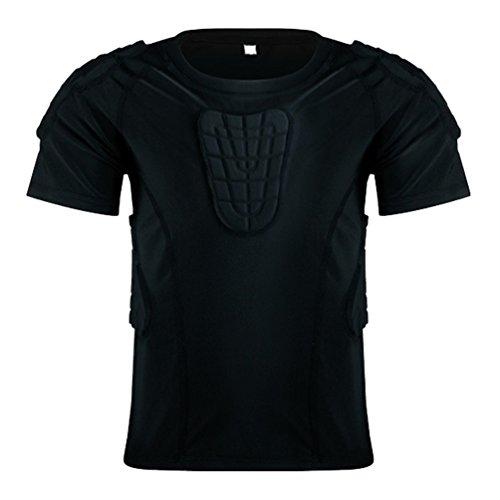 Kids Boys Girls Short Sleeve Padded shirt Protective T Shirt...