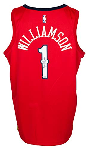 Zion Williamson Signed Red Swingman Authentic NBA Jersey Fanatics