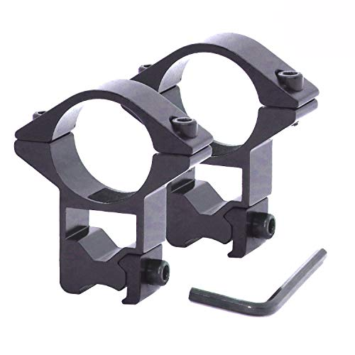 EAmber Scope Ring Mounts 1' High Profile Scope Mounts Rings for Picatinny/Weaver Rail,2 Pcs