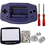 eJiasu GBA Shell, GBA Case, Full Parts Replacement Housing Shell Repair Part Case Cover for Gameboy Advance GBA (1PC GBA Shell Blue with Lens and Screwdriver)