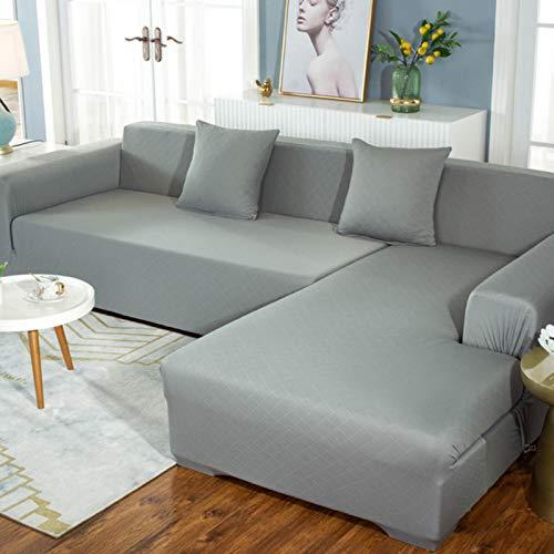 GoGOO Cubiertas de Asiento de sofá elástico para la Sala de Estar cojín cojín Cubierta sólido Suave Estiramiento l Forma sofá Funda funitation Protector