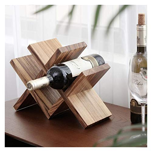 Botellero de Vino Estante de vino, con celosía nórdica Holder de almacenamiento de vino Decorativo Botella de madera Restas de vino Barra de vino Accesorios Adornos Adornos Muebles de artesanía para a