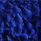 ZARRS Pétalos de Rosa,3000 Paquete Artificiales de Pétalos de Seda para Boda Día de San Valentín Arte Decoración Mesa Confeti Azul