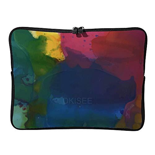 DKISEE - Custodia per computer portatile da 10', con inchiostro colorato, motivo acquerello