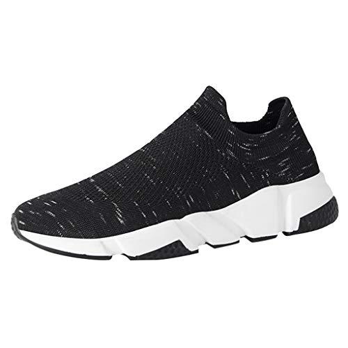 Plot Herren Casual Sneaker Gym Outdoor Laufschuhe Running Schnürhalbschuhe Ohne Schnürsenkel Freizeitschuhe Leichte Fitnessschuhe Fitness Sportschuhe