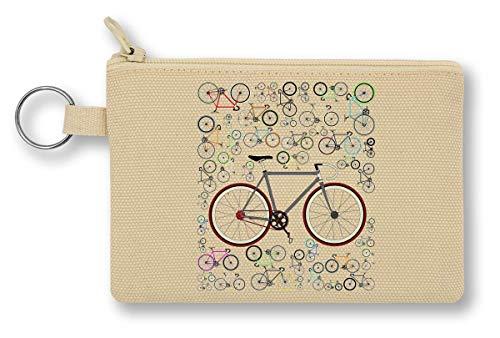 Love Fixie Road Bike portemonnee met ritssluiting