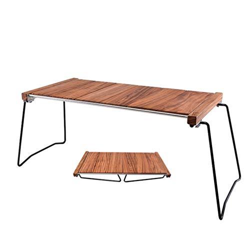 HFM Klappbarer Camping-Tisch, tragbarer Picknicktisch, kombinierter Multifunktions-Klappschreibtisch aus Ebenholz für Catering-Campingbock Picknickgarten Patio BBQ Party