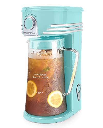 Nostalgia CI3AQ Café 3-Quart Iced Coffee and Tea Brewing System, Aqua