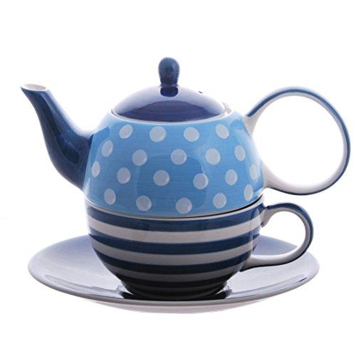 Tea for one Set 'Oke' Keramik, 4-teilig Kanne: 0,4 l, Tasse: 0,2 l