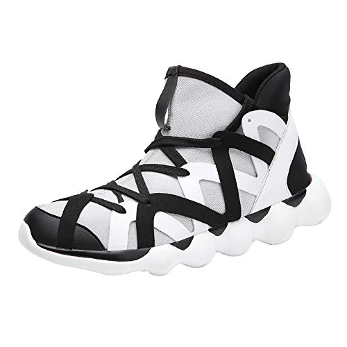 Homme Chaussure de Sport en Plein Air Overmal Hauteur Cheville Baskets Mode Casual Respirantes Poids léger Comfortable Semelle Souple Antidérapant Résistant à l'usure Lacets Running Shoe Sneakers