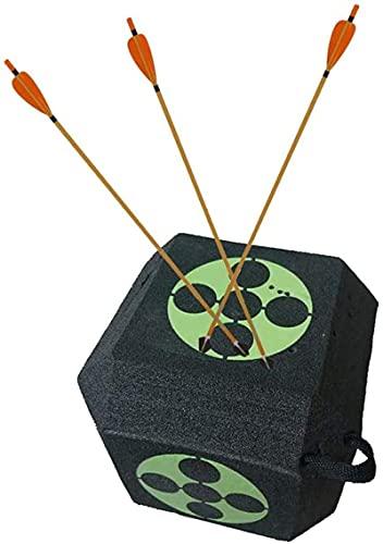 LXTOPN Objetivo de entrenamiento de tiro con arco, reutilizable, portátil, para tiro de arco 3D, cubo de espuma cuadrado para entrenamiento de caza y prácticas.