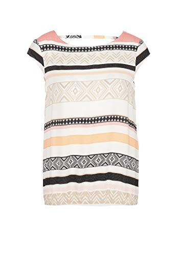 s.Oliver Damen Bluse kurzarm Off-White All Over 40