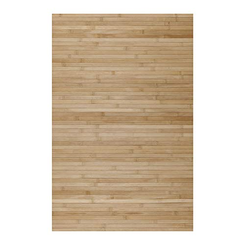 STORESDECO Alfombra de Bambú Natural, Antideslizante, Ideal para salón, baños, pasillos. ¡Disponible en Medidas Grandes! (140cm x 200cm, Marrón Claro)