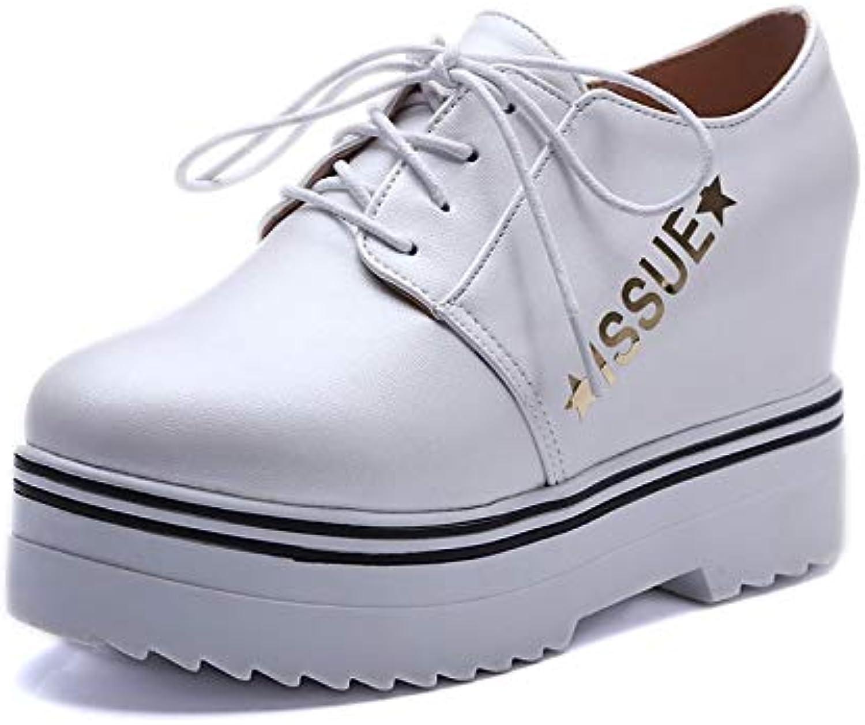Women's shoes PU(Polyurethane) Spring & Summer Comfort Sneakers Wedge Heel White Black