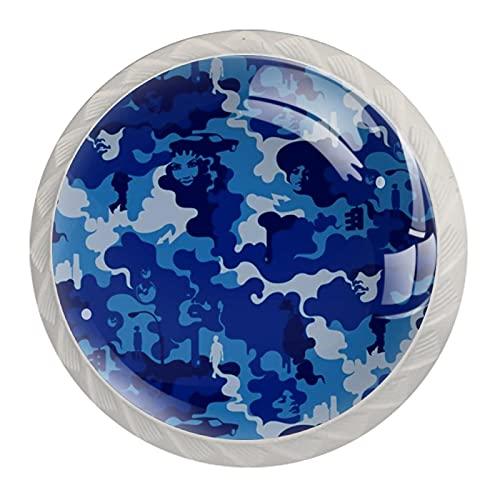 Pepsi - Pomo de cristal para armario de cocina (3,5 cm, 4...