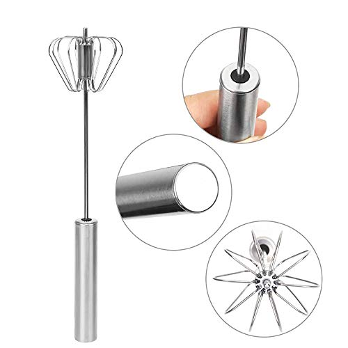 Stainless Whisks Hand Push Egg Beater Mixer Easy Use and Save Much Energy During Beating Mixing Stirring for Kitchen Fresh Cream Whipping Device Foamer