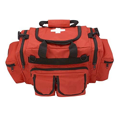 ASA Techmed First Aid Responder EMS Emergency Medical Trauma Bag Deluxe (Orange)