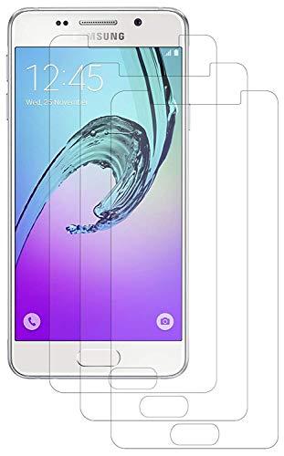 ENERGMiX Folie kompatibel mit Samsung Galaxy A3 (2016) Kristallklar (3 Stück) Schutzfolien Displayfolie