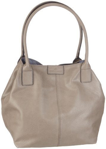 TOM TAILOR Shopper Damen, MIRIPU, Grau (taupe 21), 44x28x18 cm, TOM TAILOR Schultertasche, Handtaschen Damen