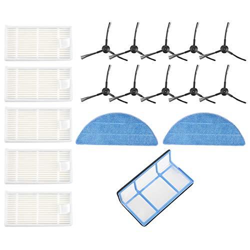 Tamkyo Filtres Une Vide Brosses Chiffons de Vadrouille pour Medion MD16192 MD18500 MD18501 MD18600 PièCes D'Aspirateur Nettoyage Domestique