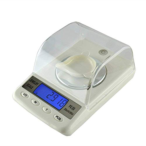 ZGUO 50 g/0.001g Precision Electronic Balance Maßstab 1/1000 Diamant Schmuck Karat Tee Tragbarer Mini Ebene