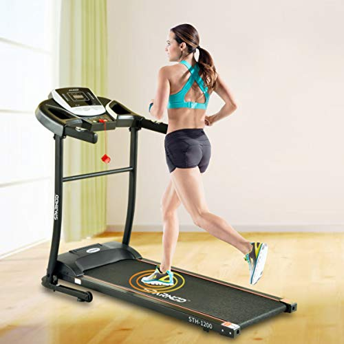 Sparnod Fitness STH-1200 (3 HP Peak) Automatic Treadmill (DIY Installation) - Foldable Motorized Treadmill for Home Use