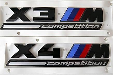 BMW純正部品 F98 X4M COMPETITION コンペティション用 ブラック エンブレム