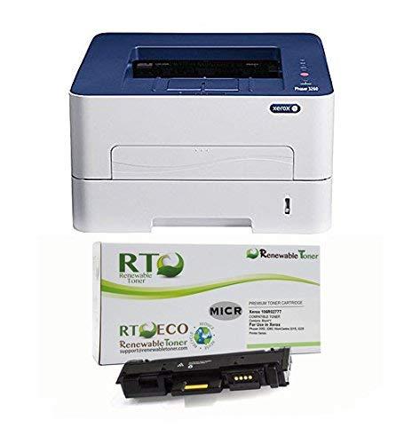 Renewable Toner Phaser 3260DI Wireless Monochrome Laser Check Printer Bundle with Compatible Xerox