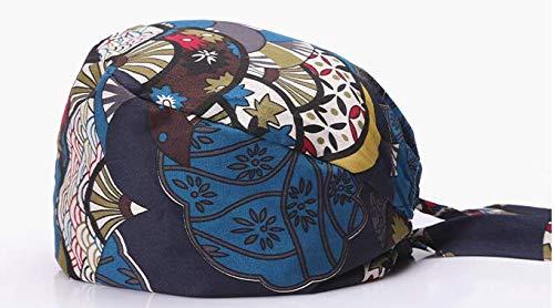 Casquette unisexe réglable chirurgicale avec bandeau de transpiration pour queue de cheval chimio Cap en coton chirurgical