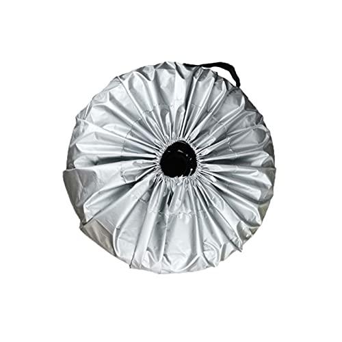 CCCZY PC 1 Caja de la cubierta de los neumáticos Coche de plata de tela de recambio Tapa de neumáticos Bolsas de almacenamiento Carry Fit para coches Protección de ruedas Cubiertas 4 Temporada