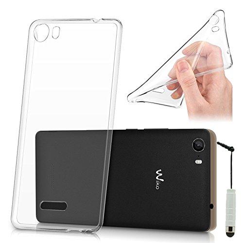 VComp-Shop® Dünne Silikon Handy Schutzhülle für Wiko Fever SE + Mini Eingabestift - TRANSPARENT