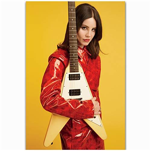 Lana Del Rey Sexy Pop Music Star Painting Art Poster Decoración regalo Lienzo Decoración para el hogar Imagen Impresión de la pared en lienzo-50x75cm Sin marco
