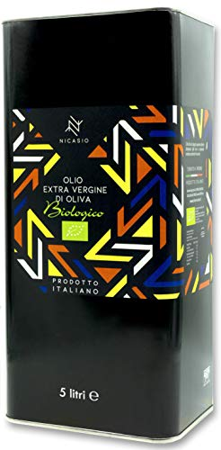 Nicasio Olio Extravergine di oliva Biologico 100% Italiano latta da 5 litri