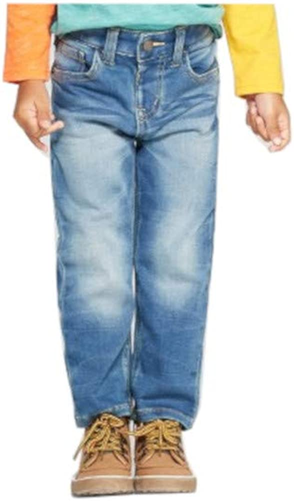 Cat & Jack Toddler Boys Size 4T Straight Leg Adjustable Waist Jeans, Deon