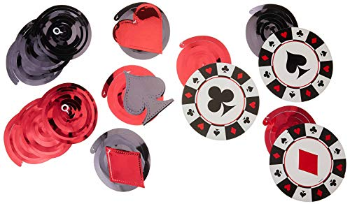 amscan Casino Value Pack Party Swirl Decorating Kit,Multicolor,multi size