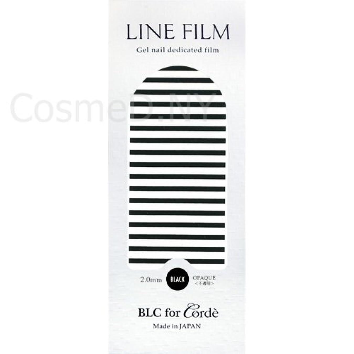抑圧する浜辺控えめなBLC for Corde(ビーエルシーフォーコーデ)ラインフィルム ブラック 2mm【ネイルアート、ネイルシール】