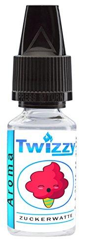 10ml Twizzy® Zuckerwatte Aroma | Für Shakes, Backen, Cocktails, Eis | Für Dampf Liquid und E-Shishas | Flav Drops | Ohne Nikotin 0,0mg