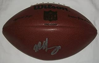 Mike Singletary Autographed NFL Football W/PROOF, Picture of Mike Signing For Us, Chicago Bears