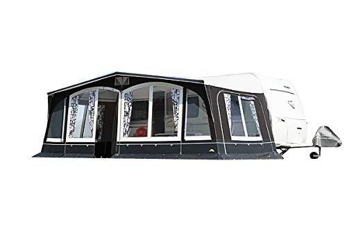 dwt Vorzelt Swing 240 grau Saisonzelt Wohnwagenvorzelt Caravan Ganzzelt Camping, Größenauswahl:Gr. 16 Umlaufmaß 1001-1030 cm