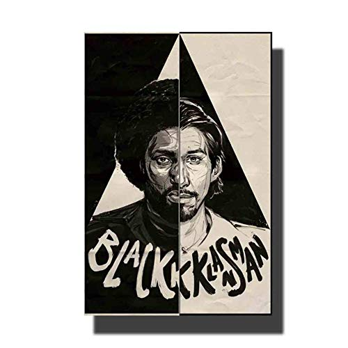wzgsffs Film BlacKkKlansman Movie Poster Art Canvas Paintings Bedroom Bedside Living Room Home Decoration Print Wall Pictures -24x32 inch No Framed