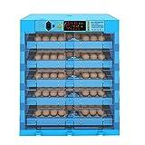 YAWEDA Incubadora Incubadora Digital automática con Control de Temperatura y Humedad 360 Grados Automático Flip Blue Hatcher Pantalla Digital Luz LED para Granja Industrial avícola