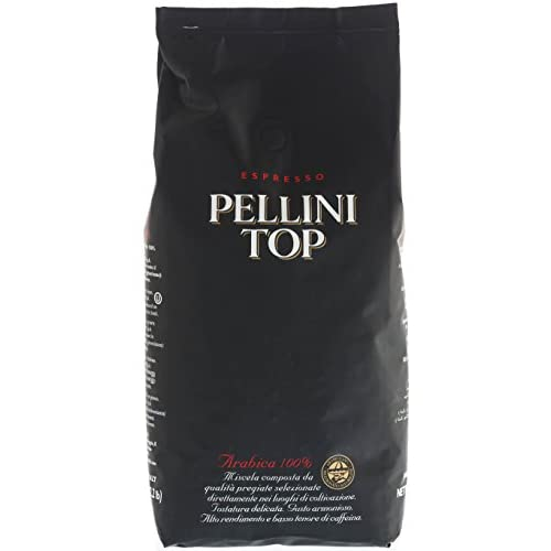 Pellini caffè Top 100% Arabica, fagioli, 1er Pack (1x 1kg)